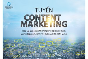 TUYỂN CONTENT MARKETING